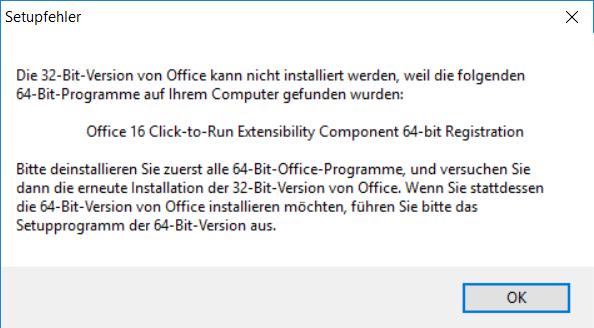 install visio 2016 click to run error