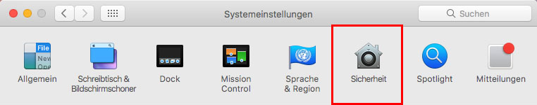 MacOS - Systemeinstellungen - Sicherheit - Apple Watch entsperren