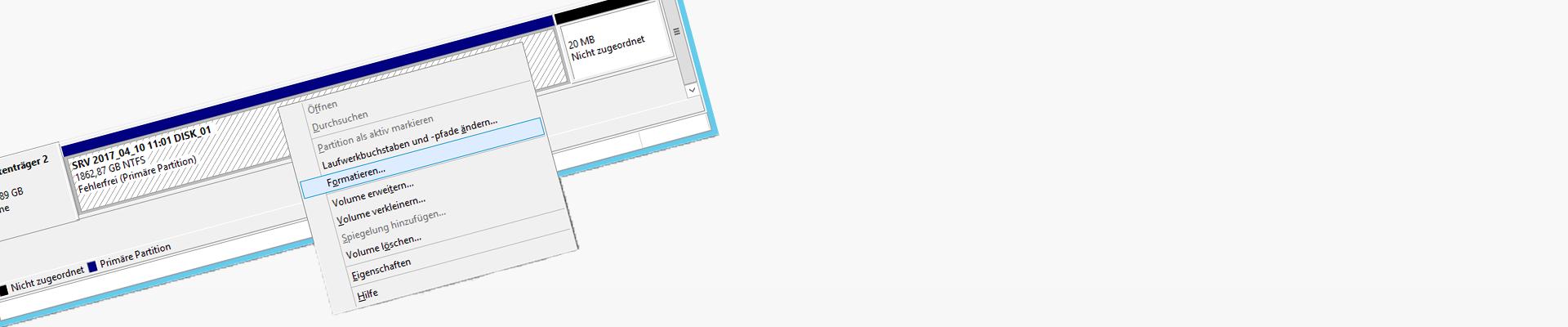 Windows Server Sicherung Datenträger voll