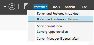 Windows Defender deinstallieren - Servermanager