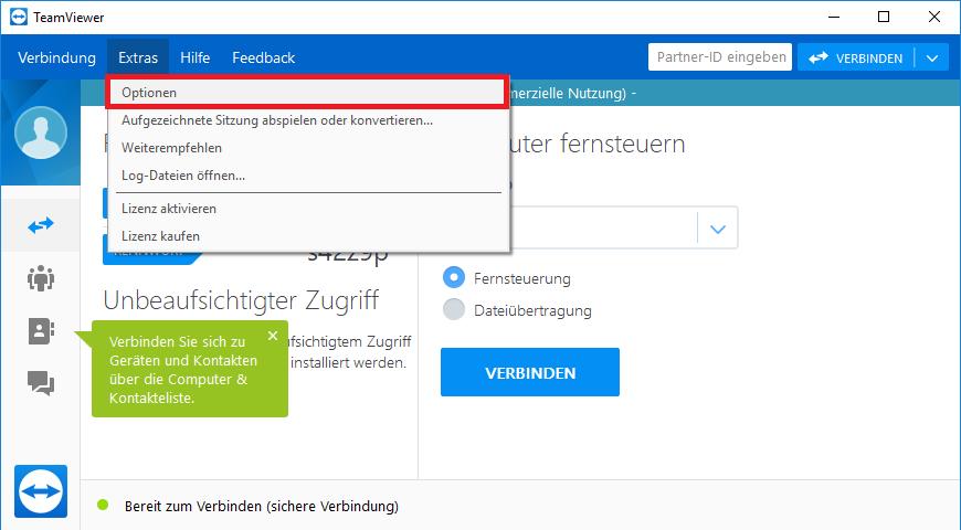 TeamViewer per IP Verbinden