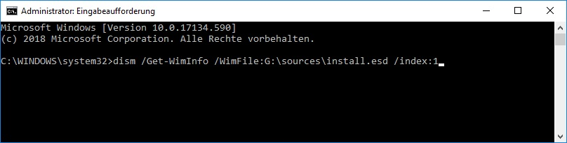 Windows 10 Version mit Eingabeaufforderung auslesen