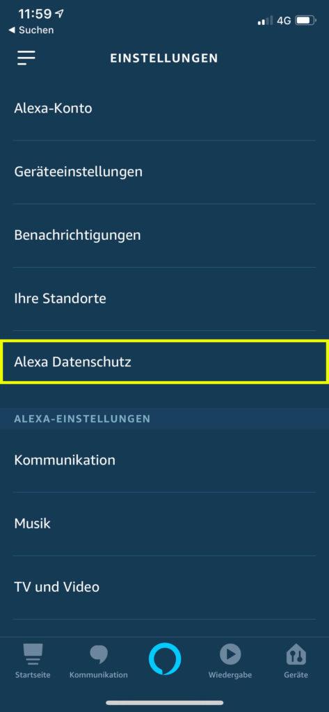 Alexa Datenweitergabe deaktivieren