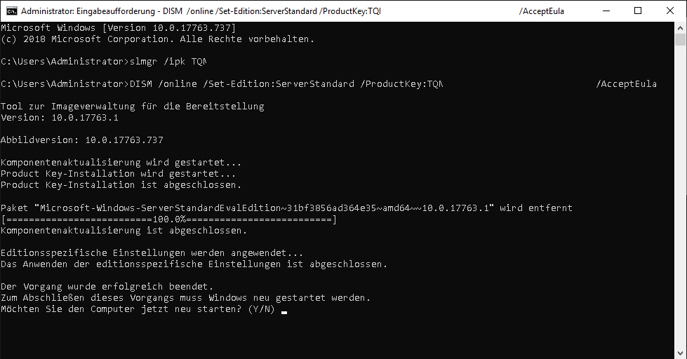 Windows Version umwandeln