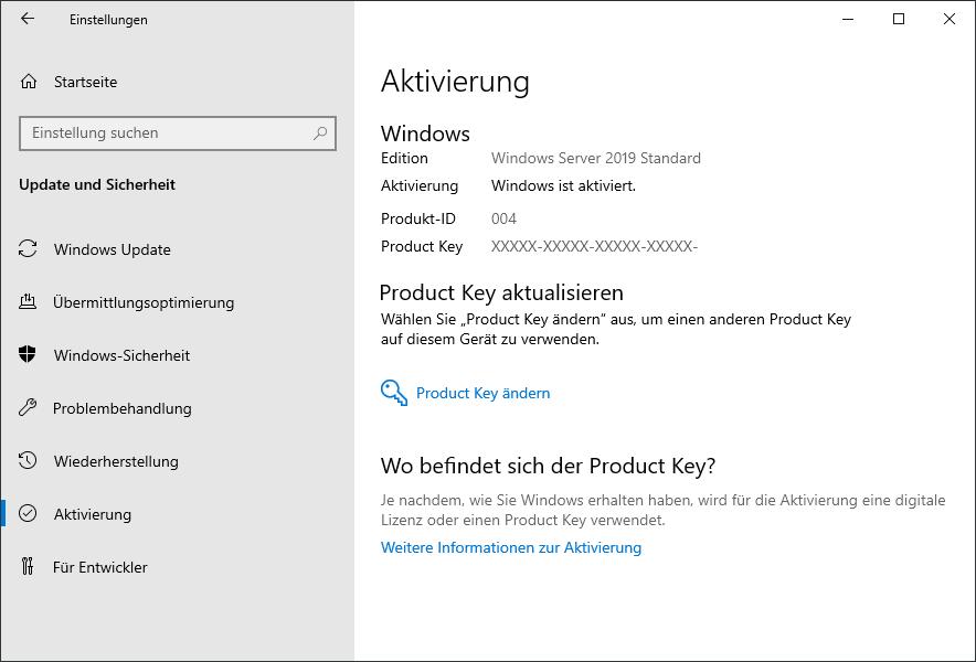 Windows Testversion aktivieren