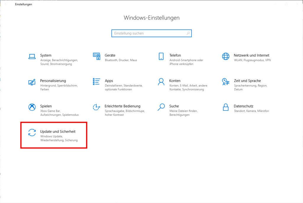 Windows Einstellungen - Bluescreen beim Drucken
